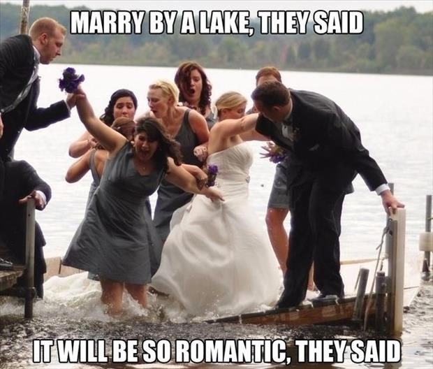 get married on a lake they said