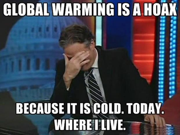 global warming if a joke