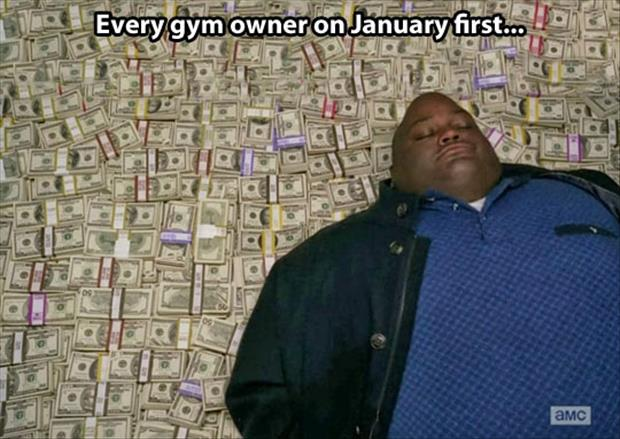going to the gym in January