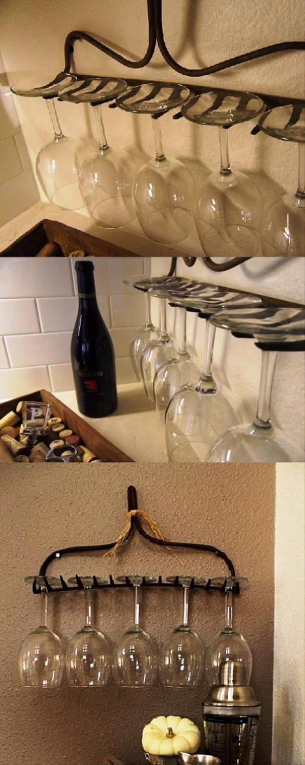 hang wine glasses