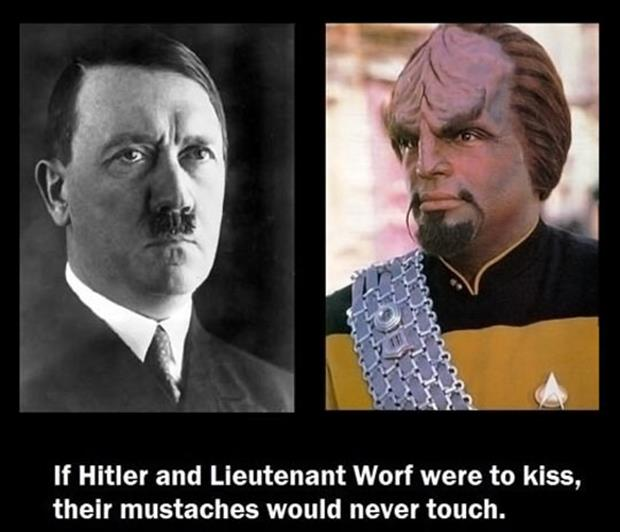 hitler and warf mustaches