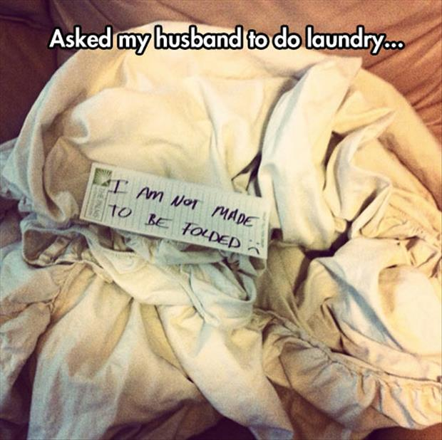 how husbands do laundry