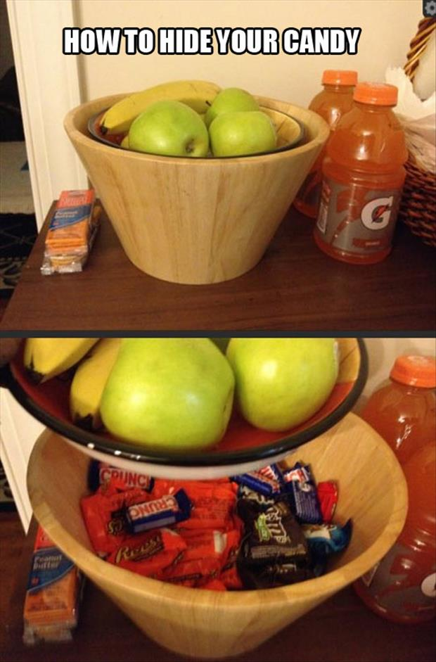 how to hide a candy bar