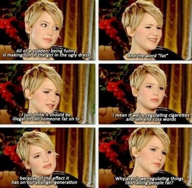 jennifer lawrence hates the fat word