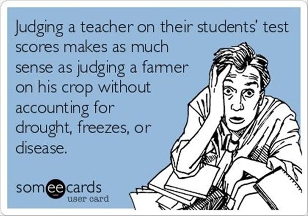 judging a teacher on their students