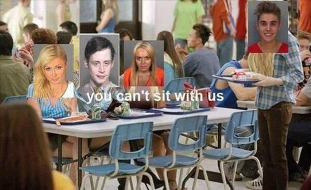 justin bieber in jail lunch table