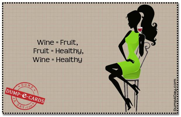 lDump E-card - wine is healthy