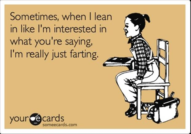 leaning and farting