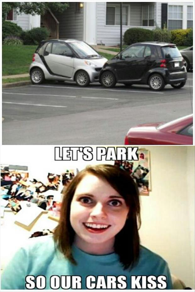 let's park so our cars can kiss