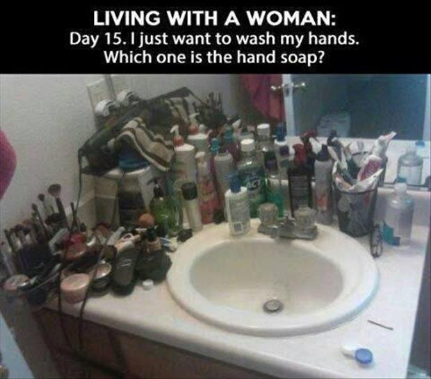 living with a woman