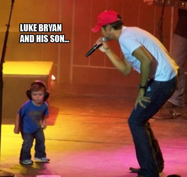 luke bryan and his son