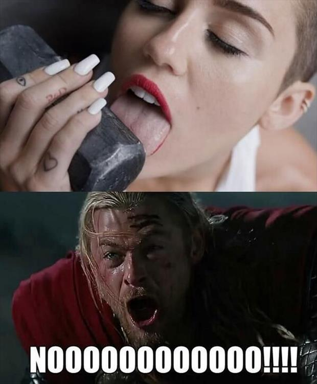 miley cyrus and thor