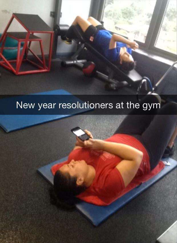 new years at the gym