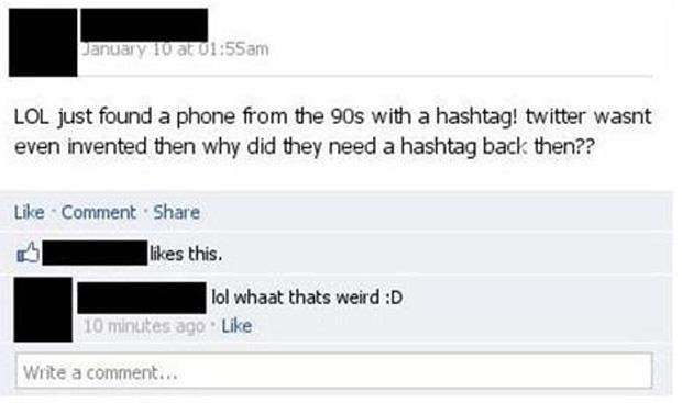 phones with hashtags