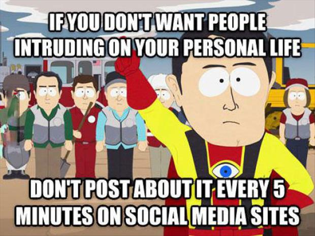 posting your personal info online