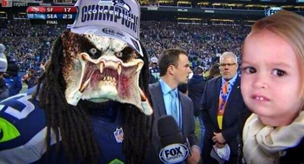 richard sherman during the post game interview