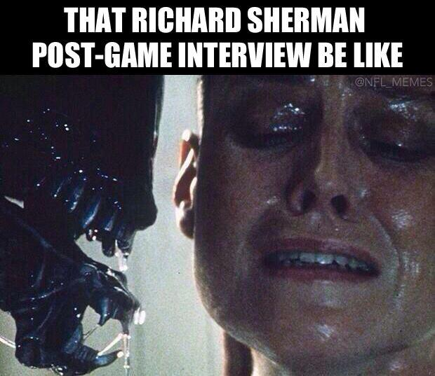 richard sherman post game interview be like