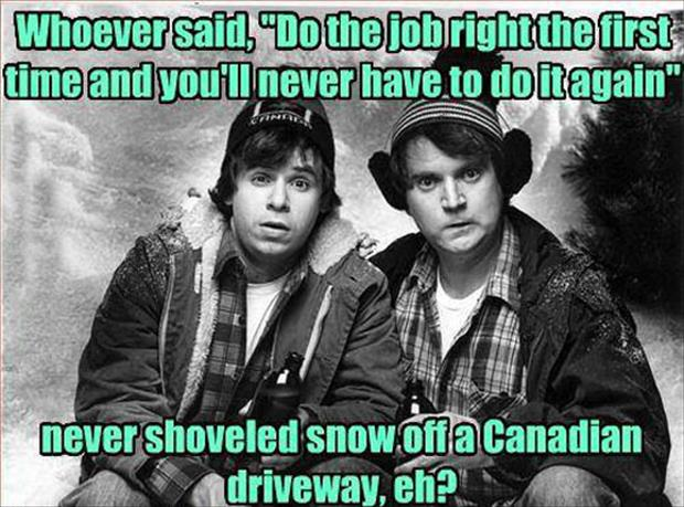 shoveling snow funny