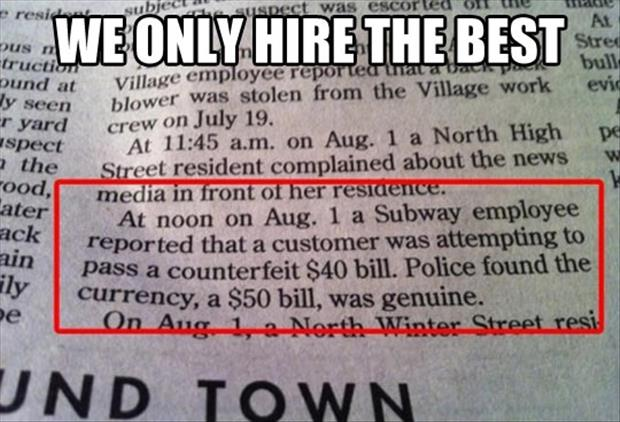 subway hiring now