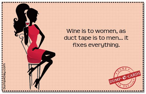 tDump E-card - wine is to women