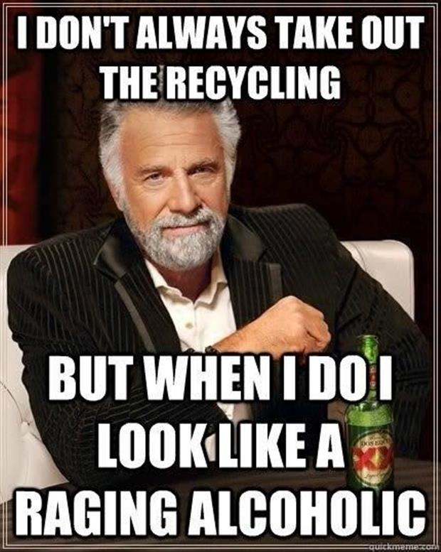 take out the recycling