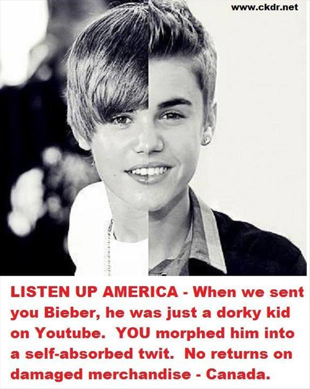 thanks canada for justin beiber