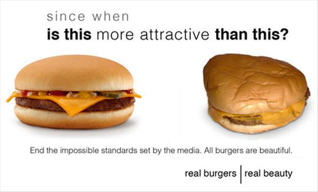 the burgers are beautiful
