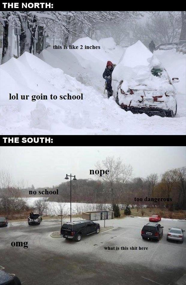 the north vs the south