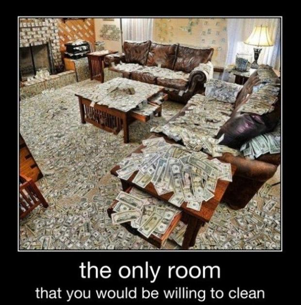 the only room I'll clean