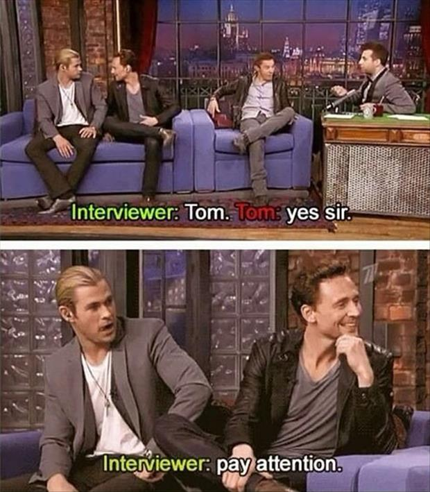 tom pay attention