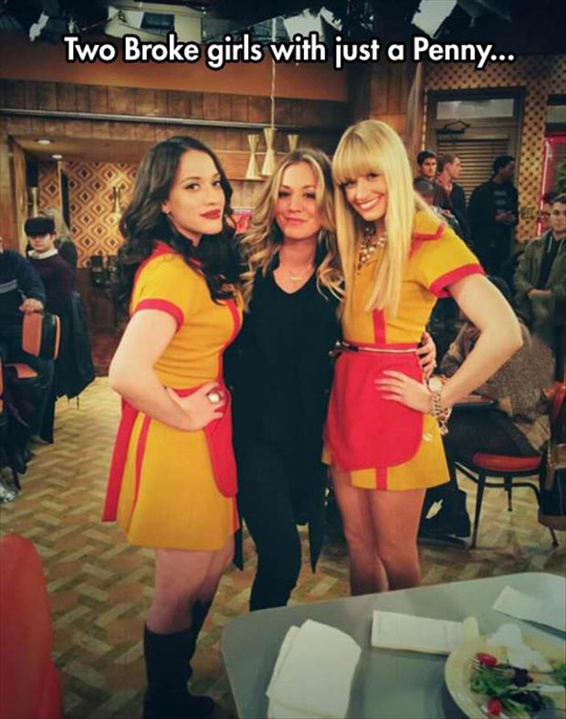 two broke girls with penny from big bang theory