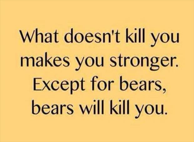 what doesn't kill you makes you stronger