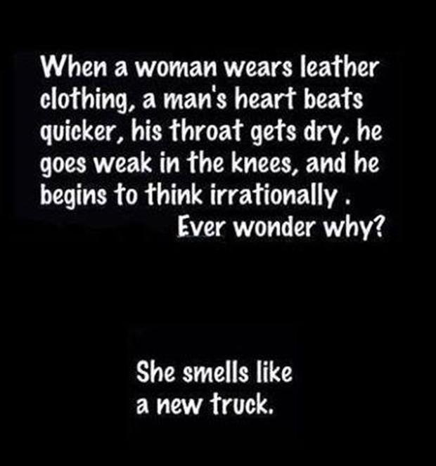 women smell like a new truck