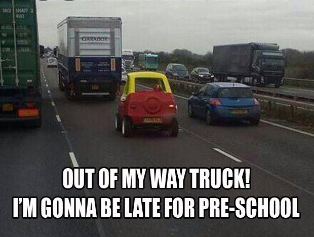 I'm going to be late to preschool
