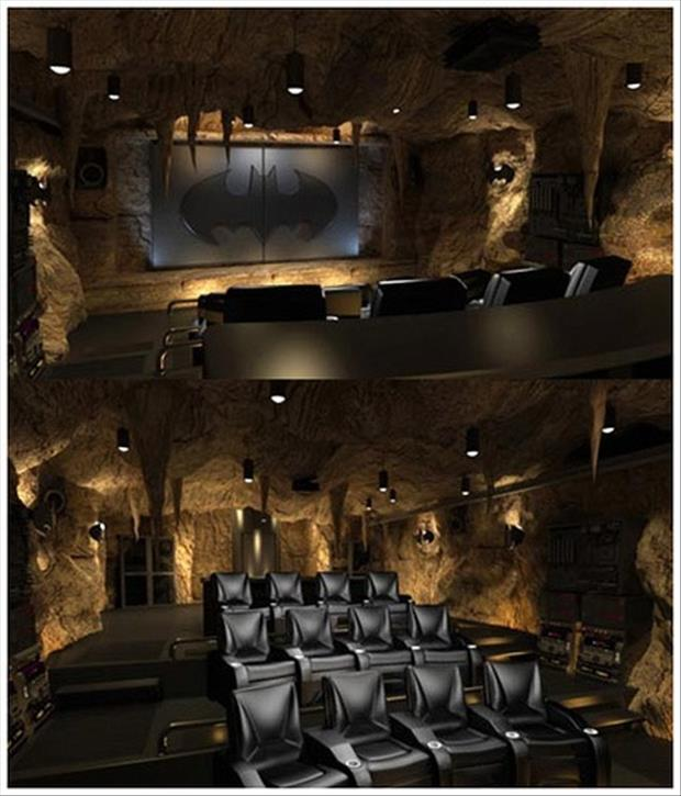 Meanwhile At My Pinterest Home- Bat cave theater room