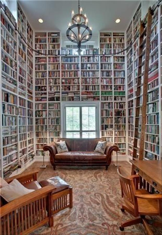 Meanwhile At My Pinterest Home- Cosy Library