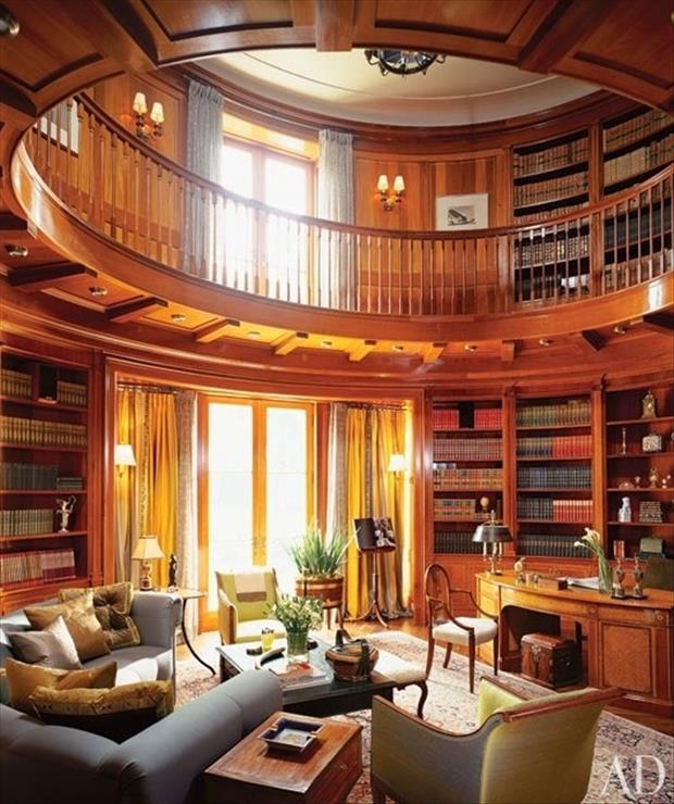 Meanwhile At My Pinterest Home- Library