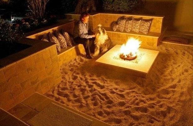 Meanwhile At My Pinterest Home- beach fire pit