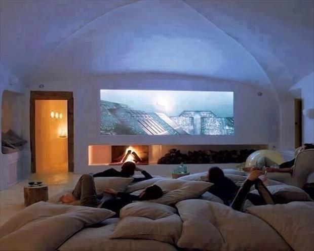 Meanwhile At My Pinterest Home- cosy theater