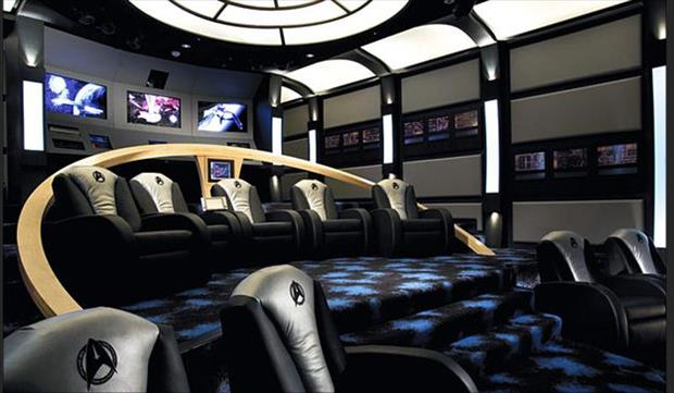 Meanwhile At My Pinterest Home- home theater