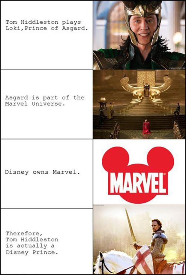 Tom Hiddleson is a disney prince