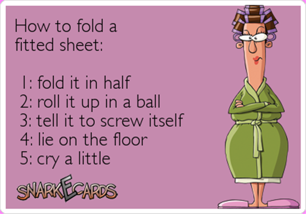 a how to fold a fitted sheet
