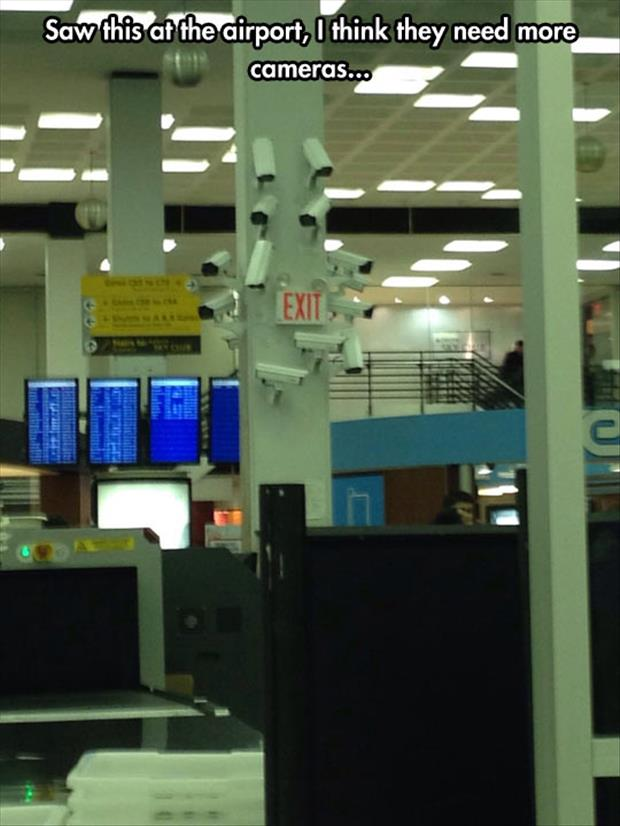 cameras at the airport