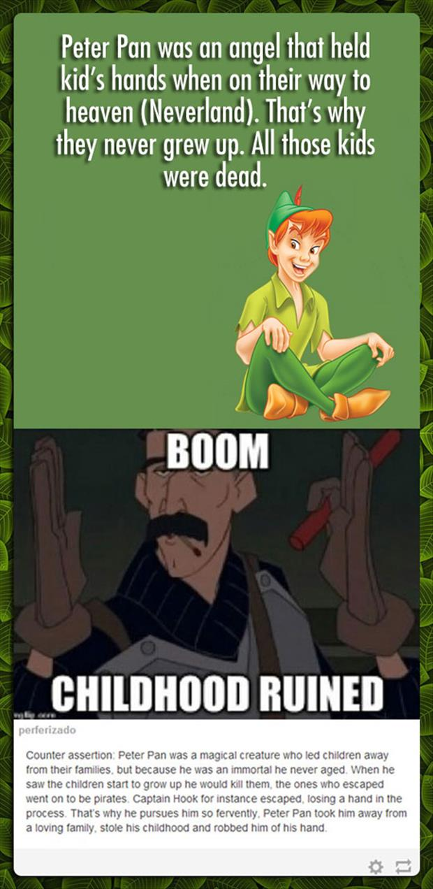 childhood ruined peter pan