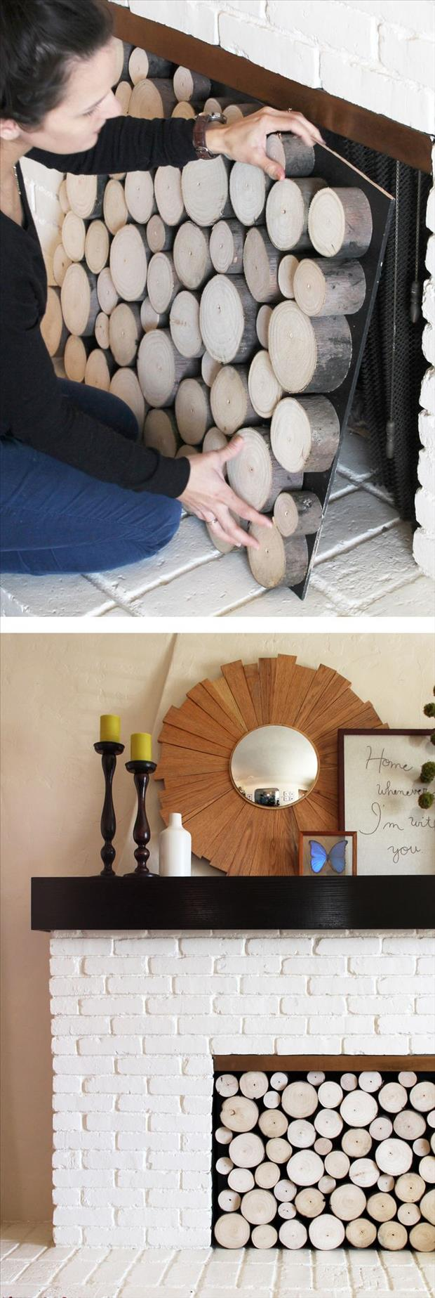 Fun do it yourself craft ideas 62 pics - Ideas to cover fireplace opening ...