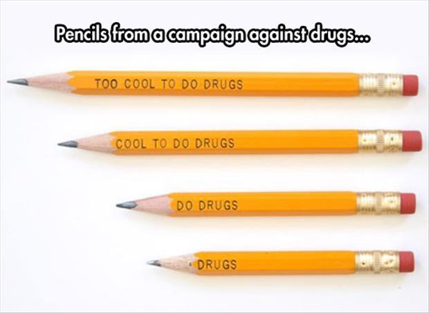 don't do drugs pencils