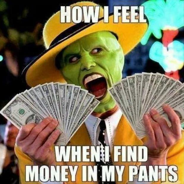 finding money in my pants