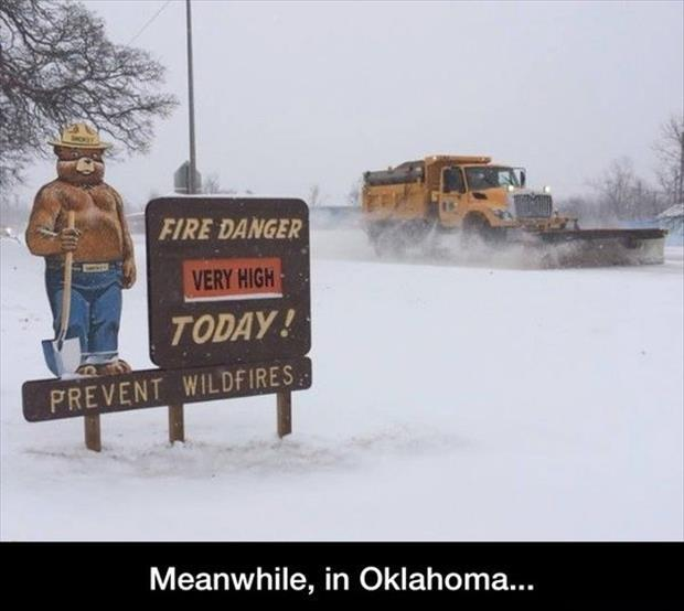 fire danger in the winter funny