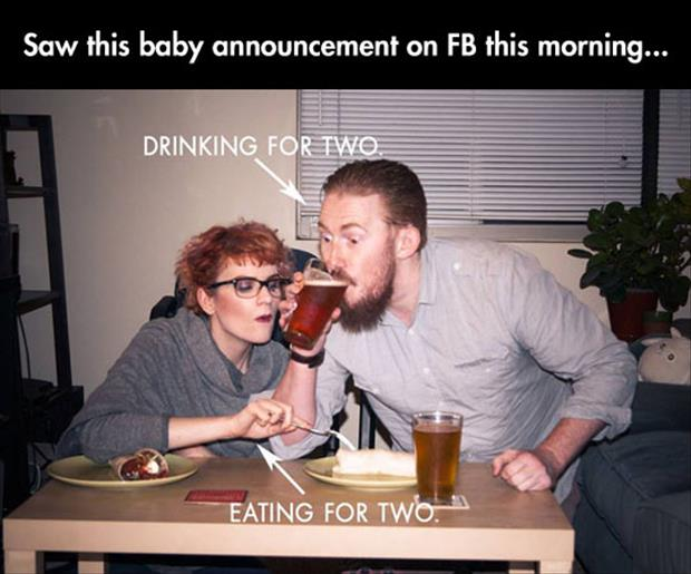 funny baby announcments