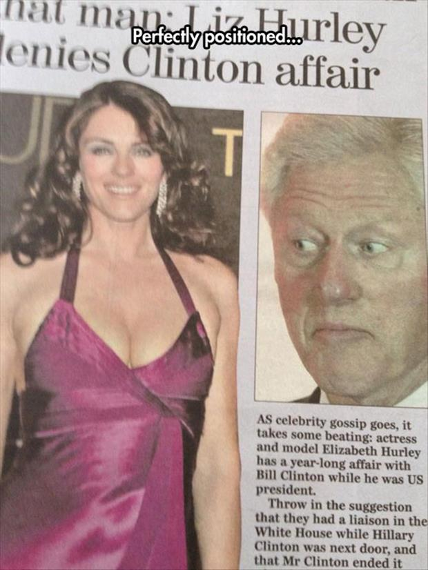 funny bill clinton looking at women